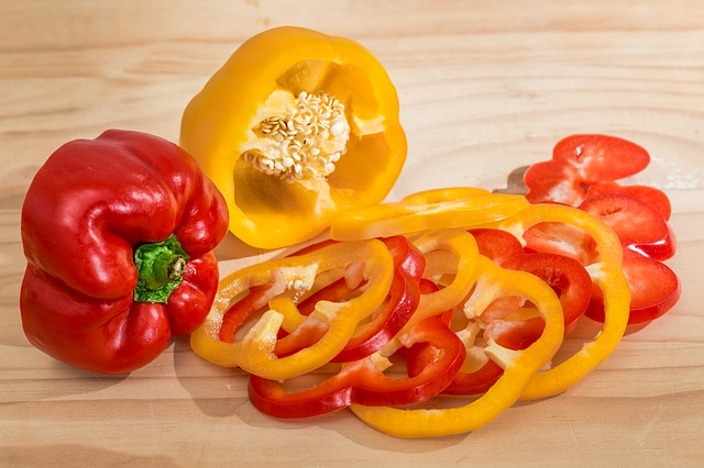 Capsicum or bell peppers for guinea pigs